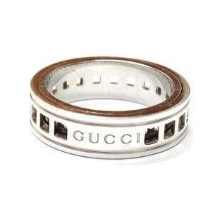 Gucci Basso Women's 18k White Gold Band